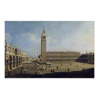 Piazza San Marco, Venetië Poster