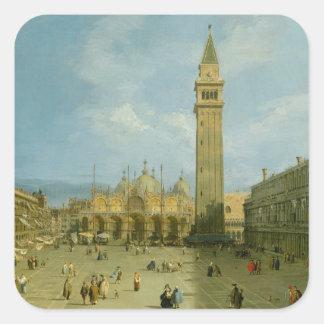 Piazza San Marco Vierkante Sticker