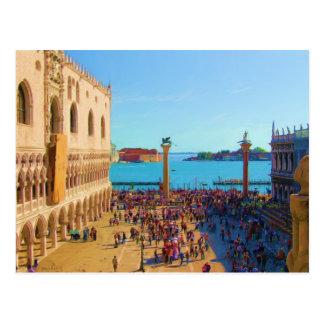 Piazza van San Marco - Venezia Italië Briefkaart