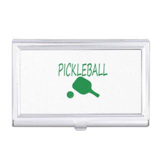 pickleball lichtgroene wpeddel en bal visitekaartjes mapje