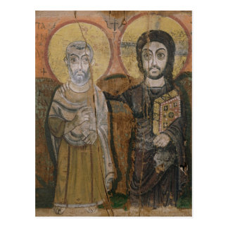 Pictogram die Abbott Mena met Christus Briefkaart