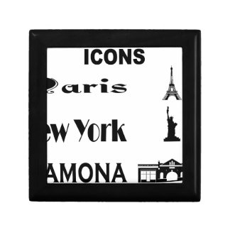 Pictogram-Parijs-New york-Ramona Decoratiedoosje