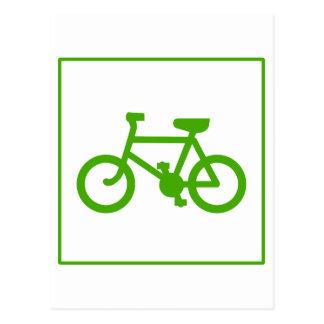 Pictogram van de Fiets van Eco het Groene, fiets, Briefkaart