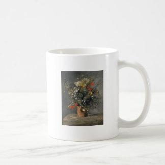 Pierre Auguste Renoir Painting, Bloemen in een Koffiemok