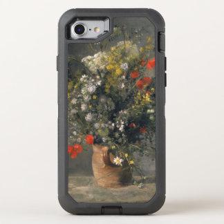 Pierre Auguste Renoir Painting, Bloemen in een OtterBox Defender iPhone 7 Hoesje