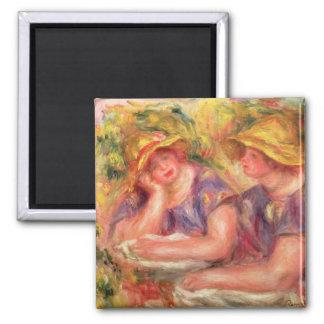 Pierre een Renoir | Twee vrouwen in blauwe blouses Magneet
