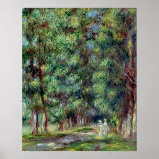 Pierre een Renoir | Weg in een Hout Poster