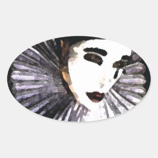 Pierrot Ovale Sticker