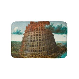 PIETER BRUEGEL - de kleine toren van Babel 1563 Badmat