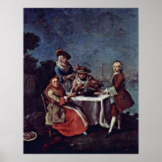 Pietro Longhi - in de moestuin Posters