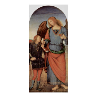 Pietro Perugino - Aartsengel en weinig Tobias Poster