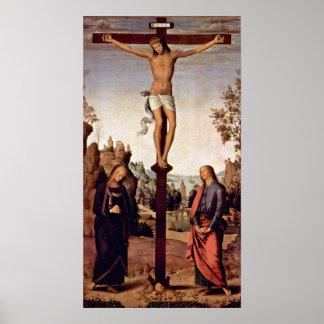 Pietro Perugino - Kruisiging met Mary Poster