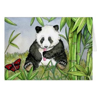 PiiPing het pandawenskaart Wenskaart