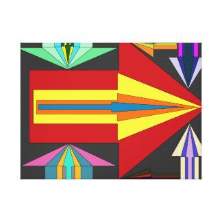 Pijlen van illusie canvas afdruk
