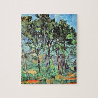 Pijnboom met Viaduct door Paul Cezanne, Vintage Legpuzzel