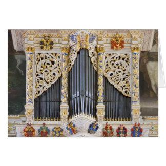pijp orgaan in Marktkirche, het wenskaart van