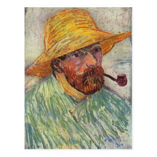 Pijp van het Portret van Vincent van Gogh de Zelf Briefkaart