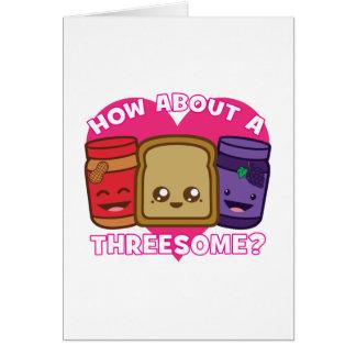 Pindakaas en Gelei - hoe over een Threesome? Briefkaarten 0