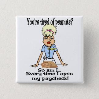 Pinda's! Vierkante Button 5,1 Cm