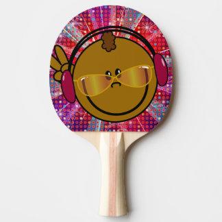 Pingpong bat - smiley DJ - disco style Tafeltennisbat