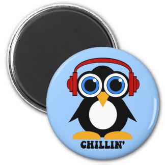 pinguïn chillin koelkast magneet