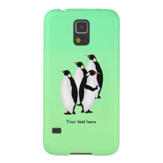 Pinguïn die een Mobiele Telefoon met behulp van Galaxy S5 Hoesje