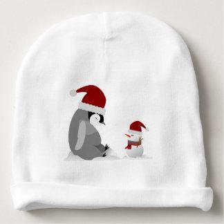 Pinguïn en sneeuwman baby mutsje