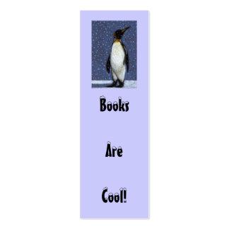 Pinguïn, Sneeuw: DE BOEKEN ZIJN KOELE REFERENTIE Visitekaartjes Mini