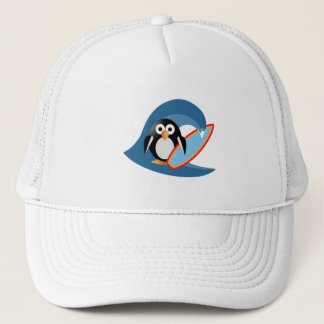 Pinguïn surfer trucker pet