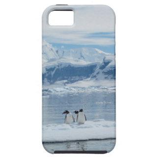 Pinguïnen op een ijsberg tough iPhone 5 hoesje
