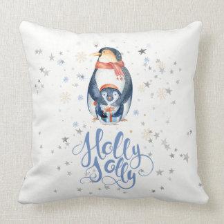 Pinguïnen van de Typografie & van Kerstmis van de Kussen