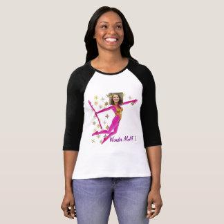 Pink Fushia Wonder Woman, Fairy Wand - T Shirt