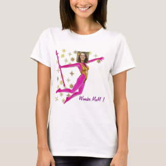 Pink Fushia Wonder Woman, Fairy Wand - T Shirt