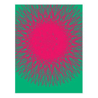 pink samenvatting briefkaart