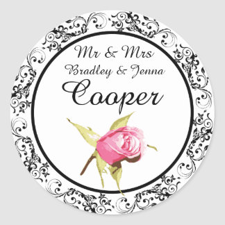Pink van M. & van Mevr. Stickers Vintage Rose