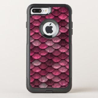 Pinks van de Flikkering van het Patroon van de OtterBox Commuter iPhone 7 Plus Hoesje