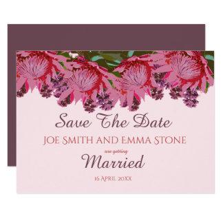 Pinks van Wildflower het Huwelijk bewaart de Datum Kaart