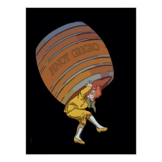 Pinot Grigio, Wijnvat Poster