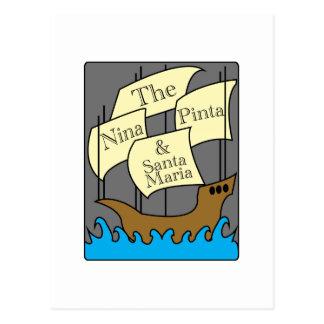 Pinta, Nina, Santa Maria Briefkaart