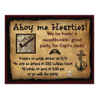 Piraat Ahoy me Hearties! De partij nodigt uit Kaart