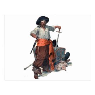Piraat en Schat Briefkaart