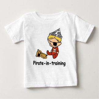 Piraat in het babyt-shirt van de Opleiding Baby T Shirts