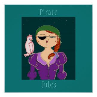 Piraat Jules de Piraat Eco - Poster