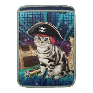 piraat kat MacBook air beschermhoezen