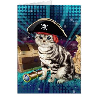 piraat kat notitiekaart