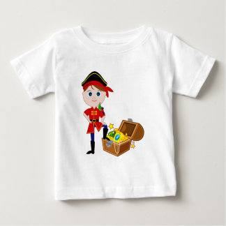 Piraat met de Borst van de Schat Baby T Shirts