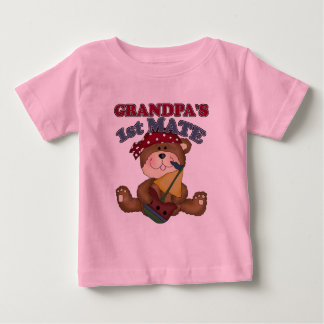 Piraat van de Partner van de opa de Eerste Baby T Shirts