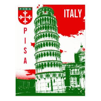 Pisa, Italië - de Leunende Toren Briefkaart