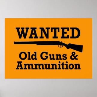 Pistolen & Poster Ammuntion