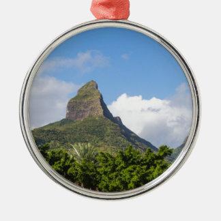 Piton DE La Petite berg in panoramisch Mauritius Zilverkleurig Rond Ornament